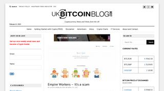 Empire Workers - It's a scam · UK Bitcoin Blog - Bitcoins and ...