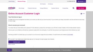 Online Account Customer Login | Energia Business - Energia