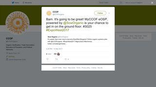 CCOF on Twitter: