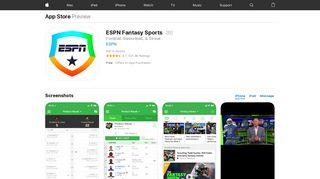 ESPN Fantasy Football - iTunes - Apple