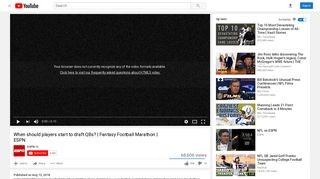 Fantasy Football Marathon | ESPN - YouTube