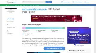 Access servicecenter.csc.com. DXC Global Pass - Login