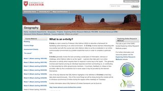 What is an e-tivity? — University of Leicester