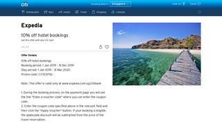 Expedia Travel Offers | Credit Card Travel Offers in Singapore | Citi ...