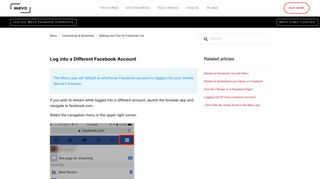 Log into a Different Facebook Account – Mevo