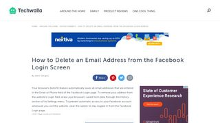 How to Delete an Email Address from the Facebook Login Screen ...