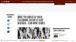 How to Check If Your Facebook Account Got Hacked—And How Badly ...