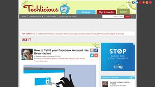 How to Tell if your Facebook Account Has Been Hacked - Techlicious