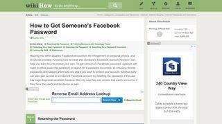5 Ways to Get Someone's Facebook Password - wikiHow