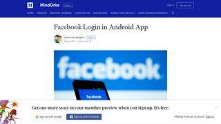 Facebook Login in Android App – MindOrks – Medium