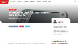 4 Cool Ways to Login to Facebook Without Going to the Site