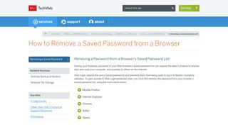 How to Remove a Saved Password from a Browser : TechWeb ...
