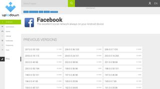 Facebook old versions - Android - Download facebook