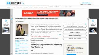 How to Retrieve a Forgotten Facebook Username Login | Your Business