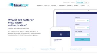 What is Two Factor Authentication? - SecurEnvoy