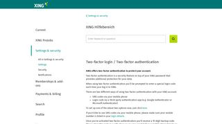 Two-factor login / Two-factor authentication | XING FAQ