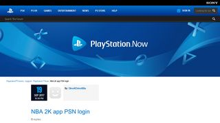 NBA 2K app PSN login - PlayStation™Now