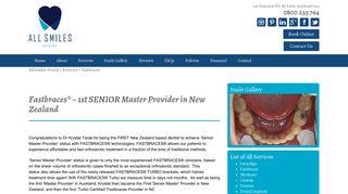 Fastbraces Auckland   NZ's Only Senior Master Provider - Smiles Dental