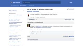 How do I access my facebook account email? | Facebook Help ...