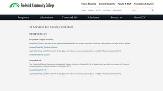 Peoplesoft - Frederick Community College