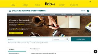 2 ways to activate Spotify Premium - Fido