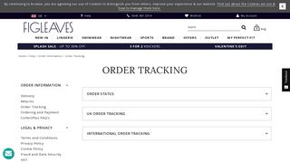 Order Tracking - Figleaves