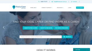 Find a Carer: Quickly find your ideal carer or work as a carer