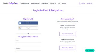 Log In - Find A Babysitter