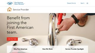 Service Providers Home  First American Home Warranty