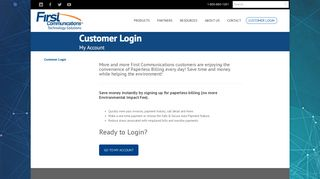 Ready to Login? - First Communications