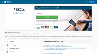 First Communications: Login, Bill Pay, Customer Service and Care ...