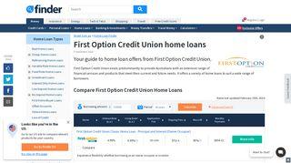 First Option Credit Union Home Loans Comparison & Reviews | finder ...