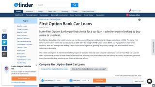 First Option Credit Union Car Loan Reviews & Rates | finder.com.au
