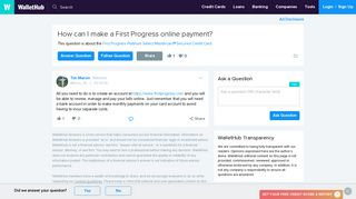 How can I make a First Progress online payment? - WalletHub