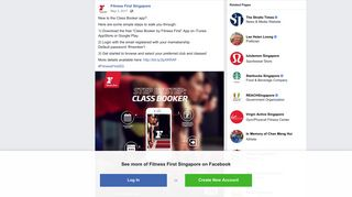 New to the Class Booker app? Here are... - Fitness First Singapore ...