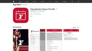 Class Booker Fitness First SG on the App Store - iTunes - Apple