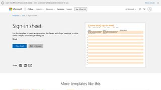 Sign-in sheet - Office templates & themes - Office 365