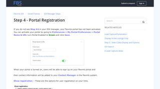 Step 4 - Portal Registration – Flexmls IDX