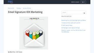Email Signature IDX Marketing – Flexmls IDX