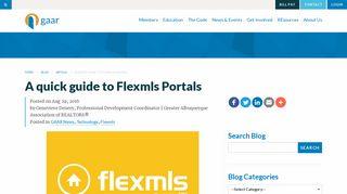 A quick guide to Flexmls Portals   GAAR Blog   Greater Albuquerque ...