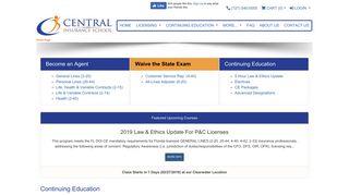 Central Insurance School - FL school for agent, CSR, adjuster training