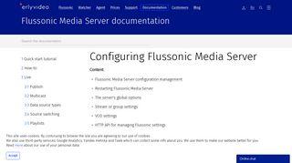 Configuring Flussonic Media Server