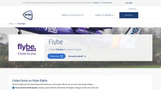 Book Flybe flights to collect Avios rewards | Avios