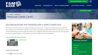 F&M Bank - Personal Credit Cards- F&M Bank: Galesburg and Peoria, IL