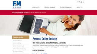 Online Banking and Bill Pay with F&M Bank