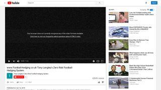 Zero Risk Football Hedging System - YouTube