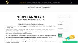 Tony Langley – Football Hedging System - Internet Marketing Courses