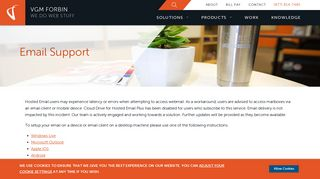 Email Support | VGM Forbin