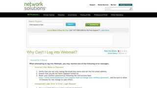 Why Can't I Log into Webmail? - Network Solutions