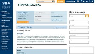 FranServe, Inc.   International Franchise Association